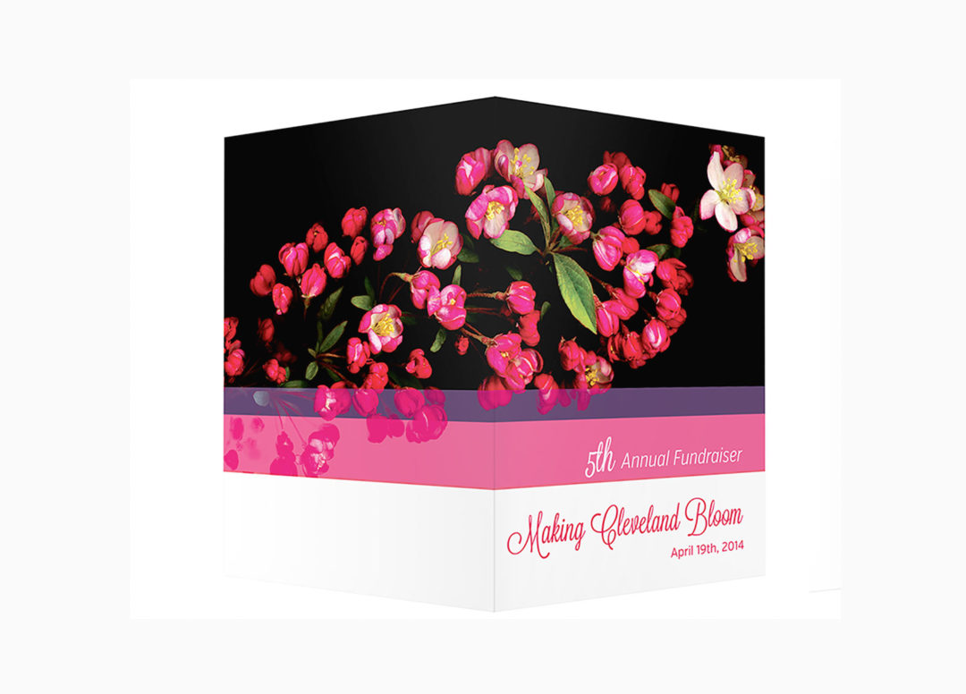 Make Cleveland Bloom – Invitation Design, Web Design